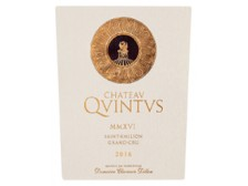 Château QUINTUS Grand cru 2016 bottle 75cl