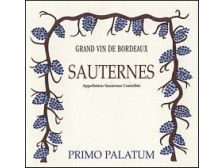 PRIMO PALATUM Sauternes 1996 bottle 75cl