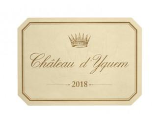 Château d'YQUEM 1er Grand cru classé 2018 la caisse bois de 1 bouteille 75cl