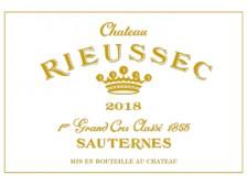 Château RIEUSSEC 1er Grand cru classé 2018 la caisse bois de 12 demi-bouteilles 37.5cl