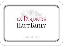 LA PARDE DE HAUT-BAILLY Second wine from Château Haut-Bailly 2016 bottle 75cl
