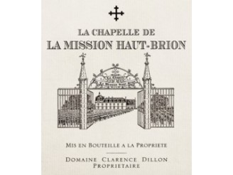 LA CHAPELLE DE LA MISSION HAUT-BRION Second vin du Ch. La Mission Haut-Brion 2012 la bouteille 75cl