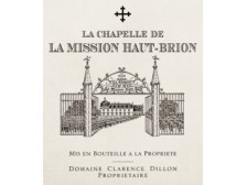 LA CHAPELLE DE LA MISSION HAUT-BRION Second vin du Ch. La Mission Haut-Brion 2016 la bouteille 75cl