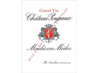 Château POUJEAUX Red 2016 wooden case of 1 magnum 150cl