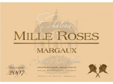 Château MILLE ROSES Margaux Red 2015 bottle 75cl