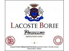 LACOSTE-BORIE Second wine from Château Grand-Puy-Lacoste 2018 bottle 75cl