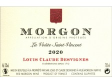 "Domaine Louis-Claude DESVIGNES Morgon ""Voûte Saint-Vincent"" red 2017 bottle 75cl"