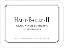 HAUT-BAILLY II Second wine from Château Haut-Bailly 2019 Futures