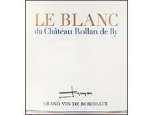 Le BLANC de ROLLAN DE BY Bordeaux dry white 2019 bottle 75cl